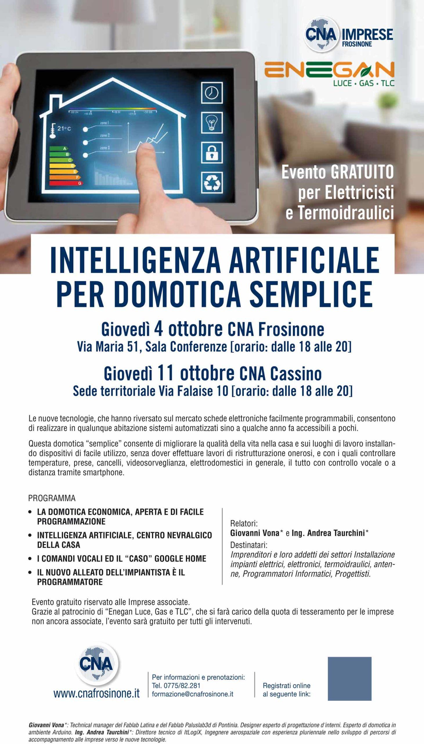 """Intelligenza artificiale per Domotica semplice"""